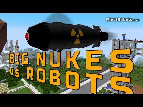 Theoretical Tsar Nuke Vs Big Robots In Minecraft Mod