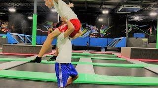 vuclip WWE MOVES AT THE TRAMPOLINE PARK 3