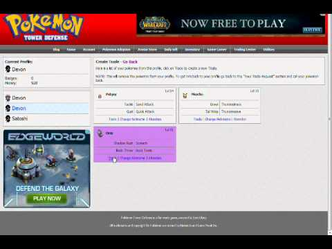 How To Trade To Yourself On Pokemon Tower Defence