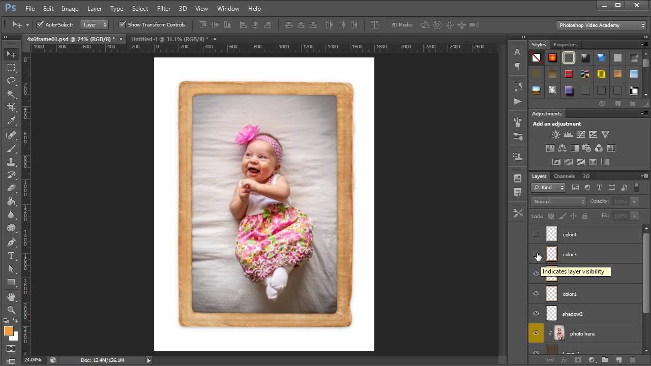 Insert a Photo into a Photoshop Photo Frame Template with Clipping ...