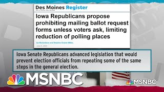 Record Turnout Moves Iowa GOP To Attack Successful Voting System | Rachel Maddow | MSNBC