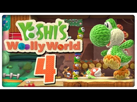Let's Play YOSHI'S WOOLLY WORLD Part 4: Mega-Yoshis gegen Shy Guys mit Bomben-Wolle