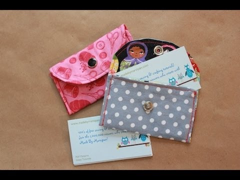 Sew A Snappy Card Wallet - YouTube