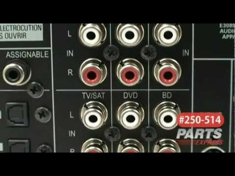 Pioneer VSX-820-K 51 Home Theater A/V Receiver Black - YouTube