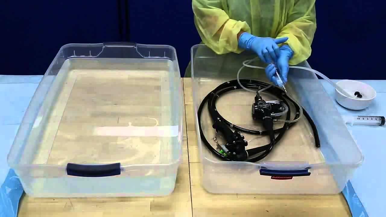 Flexible Endoscope Reprocessing Alcohol Flush Youtube