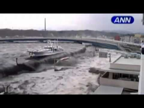 Tsunami Hits Onahama City in Fukushima - Prefecture in North-East JAPAN.