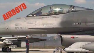 F-16s At Câmpia Turzii Romania