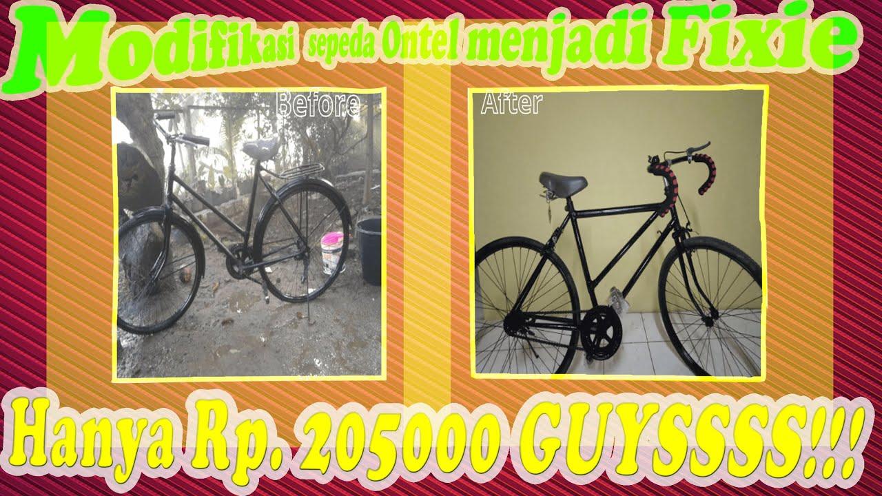 Wow Modifikasi Sepeda Ontel Jadi Fixie Murah Hanya Rp 205000 Youtube