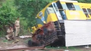 Indian Railways Locomotive FALLS IN A GUTTER!
