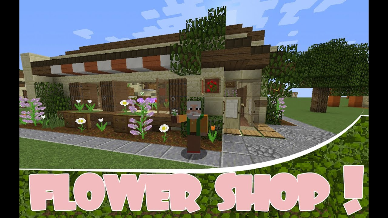 Minecraft Spawn Shop Idea - FLOWER SHOP!! - YouTube