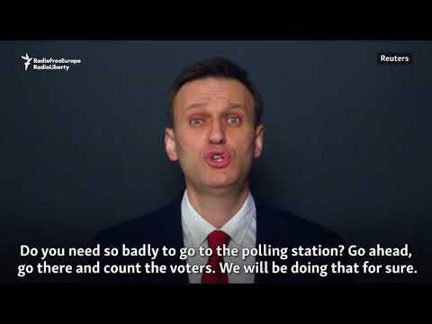 Navalny Calls For Presidential Election Boycott