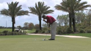 Phil Mickelson putting drill keep eye over ball