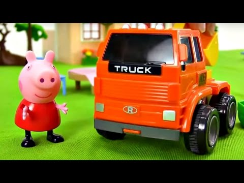 Eğlenceli çocuk Filmi - Peppa Pig Bahçesine Ağaçlar Dikiyor - Ona Yardım Edelim