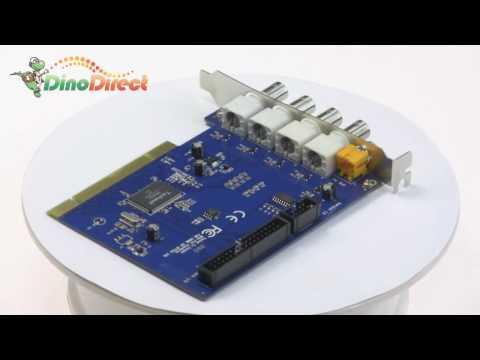 4 Channel DVR PCI Surveillance Video Capture Card DC8104