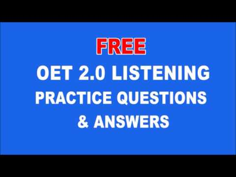 OET 2 0 LISTENING PRACTICE QUESTIONS & ANSWERS | OET Coaching in Kannur,  Kottayam, Mangalore