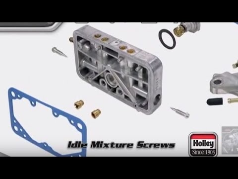 Holley Carb Idle Mixture Screw Adjustment How-To Tutorial Overview  Instructions