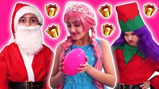 Christmas Compilation 🎅 Gifts, Magic, Challenges & More - Princesses In Real Life | Kiddyzuzaa
