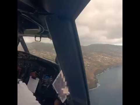 Jovem Piloto Alemao Grava Aterragem No Aeroporto Da Madeira