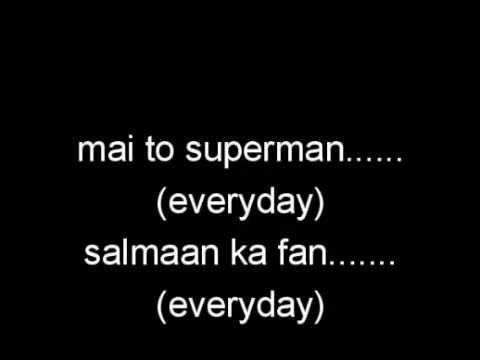 superman salmaan ka fan tevar full lyrics