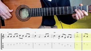 """Песня """"От Улыбки"""" на гитаре. Guitar. Notes. Tabs. Chords"""