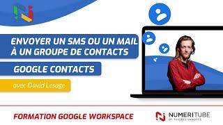 Comment envoyer un sms ou un email à un groupe de contact avec un smartphone Android