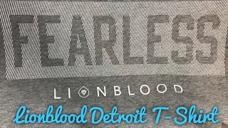 Fearless T-Shirt by Nate Burleson's Detroit Lionblood Review
