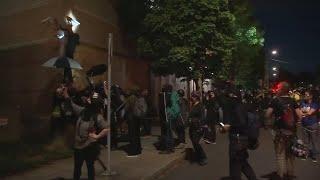 Neighbors express frustration, fright over violent riots at Portland police building