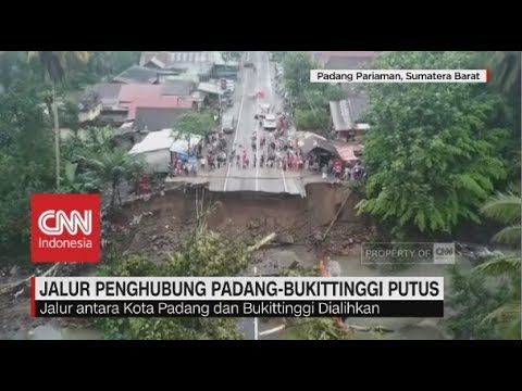 Jalur Penghubung Padang-Bukitinggi PutusTotal