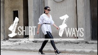 How to Style: Oversized Shirt - 7 Looks!