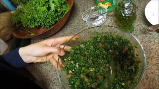 Step By Step Into Making A Lebanese Tabouli Salad.