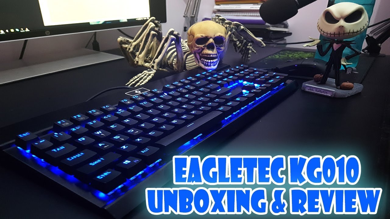 6ce63477457 EAGLETEC KG010 MECHANICAL KEYBOARD UNBOXING AND SOUND TEST   Cheap ...