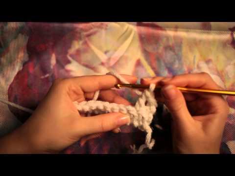 Как повернуть вязание крючком