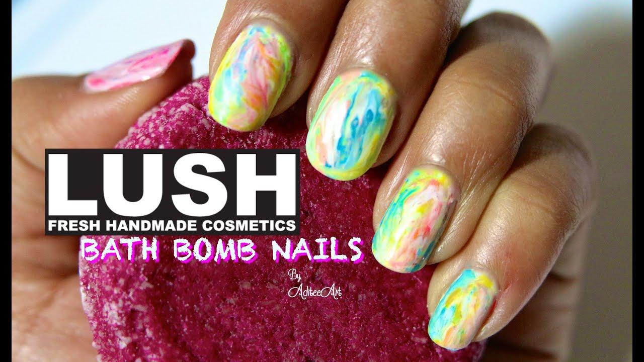 LUSH Bath Bomb Nail Art! - YouTube