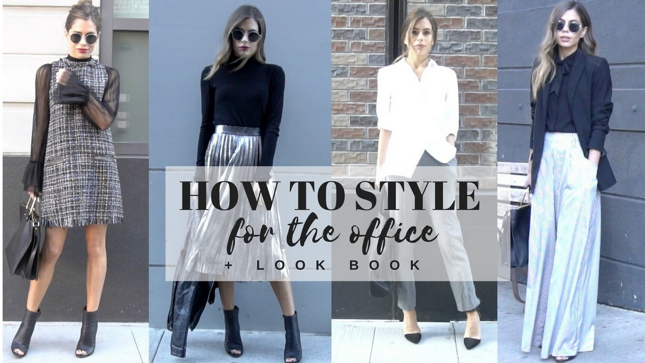 How To Style Work Wear Office Attire Look Book Youtube