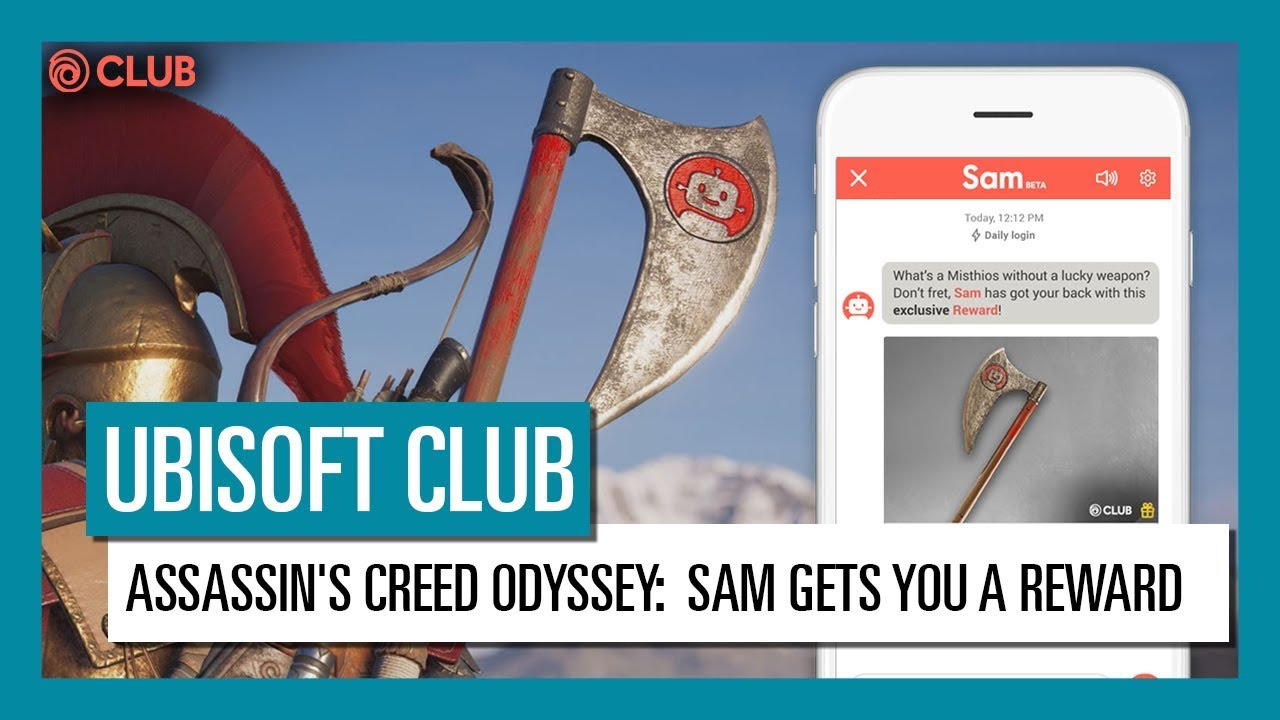 Ubisoft Club Daily Login Unlock The Exclusive Sam Reward For Assassin S Creed Odyssey Youtube