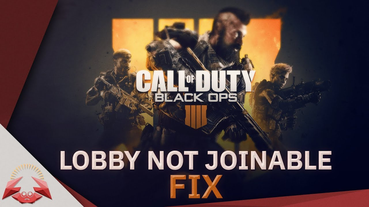 Cod Black Ops 4 Lobby Not Joinable Fix Youtube
