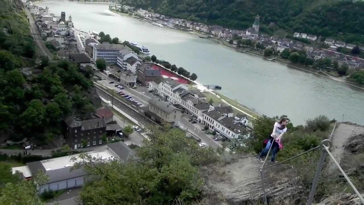 Klettersteig Nochern : Rabenacksteig nochern juli rheinsteig youtube