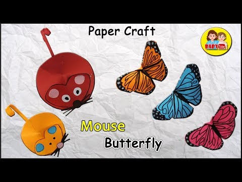 Paper Mouse Craft , Butterfly Paper Craft , Kids Craft
