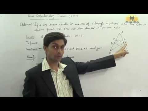basic proportionality theorem proof BPT thales theorem proof intercept theorem Proof