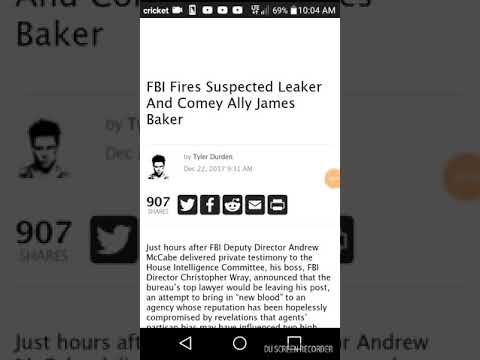 James Baker resigned from FBI