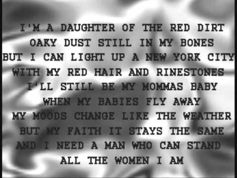 REBA ALL THE WOMEN I AM WITH LYRICS