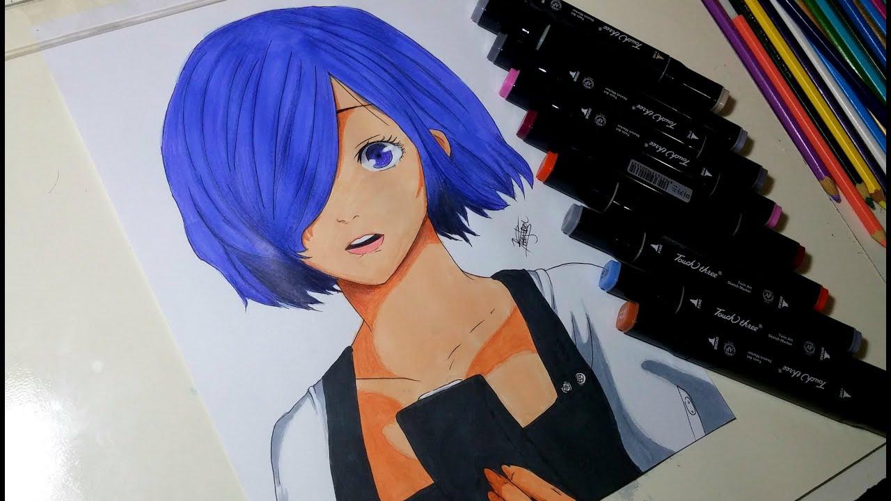 Drawing Touka Kirishima From Tokyo Ghoul RE