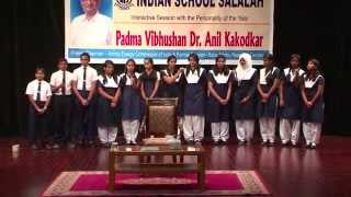 Welcome song Shubha swagatam by Indian School Salalah Choir.
