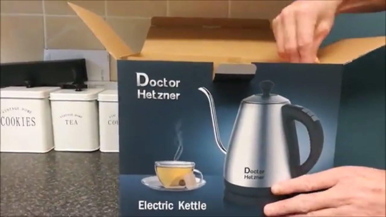 electric gooseneck kettle by doctor hetzner