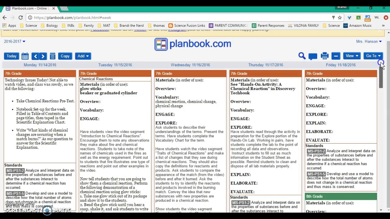 Planbook settings templates youtube for Free planbook