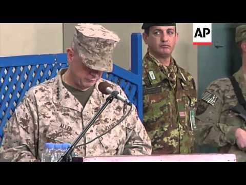 General Joseph Dunford assumes command of the ISAF