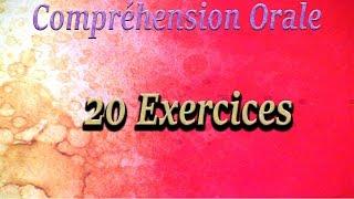 Compréhension Orale  niveau A1 - 20 exercices