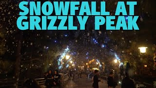 Snowfall at Grizzly Peak | Disney California Adventure