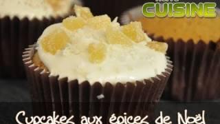 Recette des cupcakes aux épices de Noël, glaçage au miel et éclats de gingembre cristallisé!