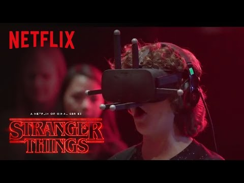 Stranger Things  Cast Reacts Virtual Reality HD  Netflix